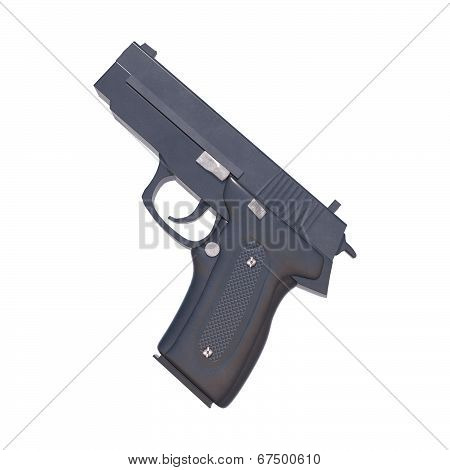 Pistol On White