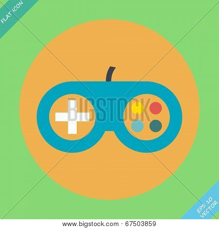 Game controller icon - vector illustration.