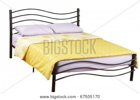 double bed with clipping path