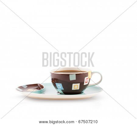 Coffee-cup with white copy space, isolated on white