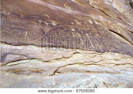 Petroglyph Panel in Mesa Verde National Park