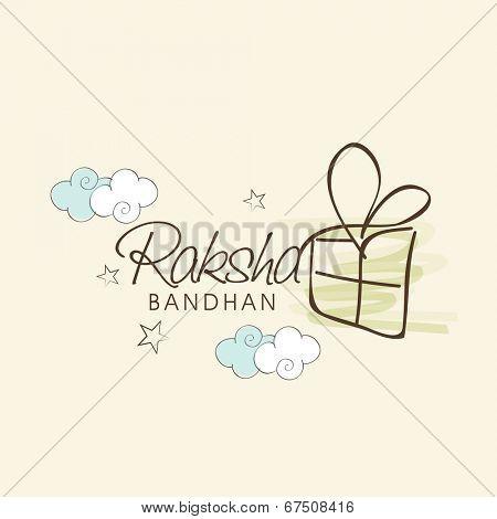 Beautiful greeting card design for the Indian festival Raksha Bandhan.