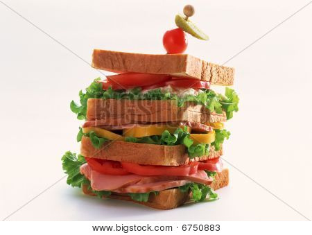 Big double decker sandwich