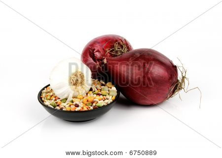 Red Onions And Soup Pulses