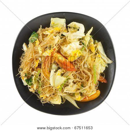 Cellophane Noodles Stir Fried With Vegetable