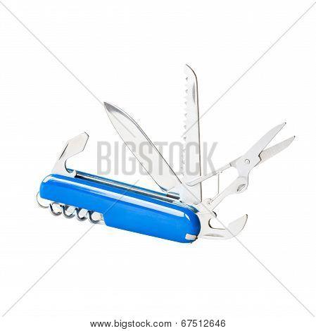 Blue swiss knife