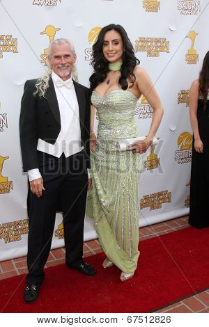 LOS ANGELES - JUN 26:  Camden Toy, Valerie Perez at the 40th Saturn Awards at the The Castaways on June 26, 2014 in Burbank, CA
