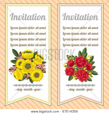 Two Floral Banners