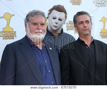 LOS ANGELES - JUN 26:  Dean Cundey, Malek Akkad at the 40th Saturn Awards at the The Castaways on June 26, 2014 in Burbank, CA