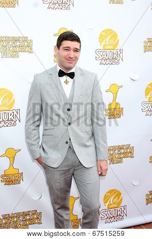 LOS ANGELES - JUN 26:  Bo Roberts at the 40th Saturn Awards at the The Castaways on June 26, 2014 in Burbank, CA