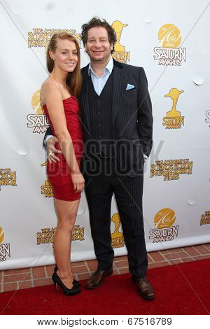 LOS ANGELES - JUN 26:  Virginia Collins, Jeff Ross at the 40th Saturn Awards at the The Castaways on June 26, 2014 in Burbank, CA