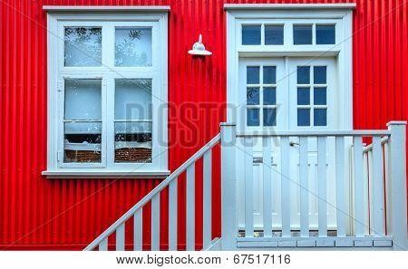 House facade in Reykjavik, Iceland