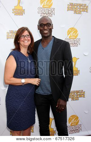 LOS ANGELES - JUN 26:  Stephanie Reddick, Lance Reddick at the 40th Saturn Awards at the The Castaways on June 26, 2014 in Burbank, CA