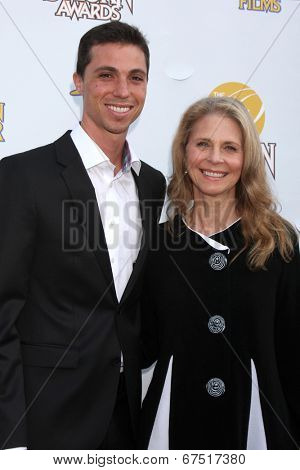 LOS ANGELES - JUN 26:  Alex Kingi, Lindsay Wagner at the 40th Saturn Awards at the The Castaways on June 26, 2014 in Burbank, CA