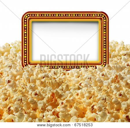 Cinema Popcorn Sign
