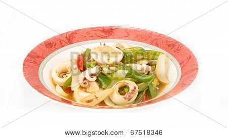 Stir Fried Chili Pepper With Squid