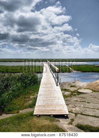 Pier In The Wadden Sea On Fano