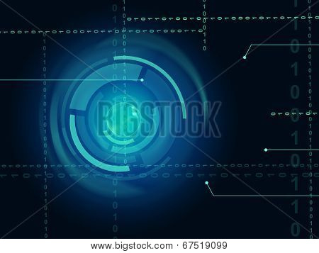 Electronic Sensor Background Means Eye Sensor Or Trendy Technology.