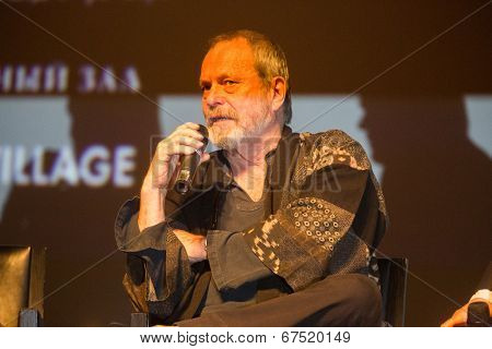 MOSCOW - JUNE, 14: American director Terry Gilliam at the Premiere of his movie The Zero Theorem at the Barvikha Village. June 14, 2014 in Moscow, Russia