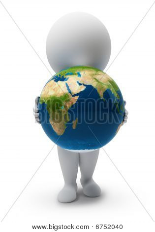 3D Small People-earth