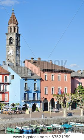 Popular Village of Ascona at Lake Maggiore
