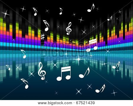 Music Background Means Harmony Dj Or Instruments.