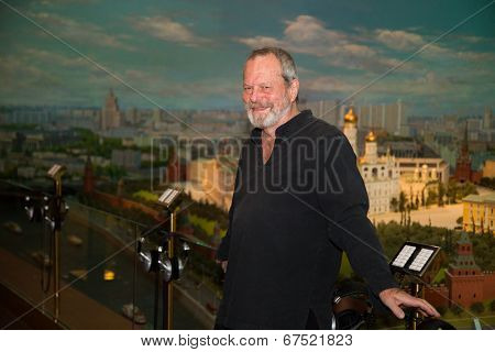 MOSCOW - JUNE, 14: American director Terry Gilliam at the Premiere of his movie The Zero Theorem at the Ukraina Hotel. June 14, 2014 in Moscow, Russia