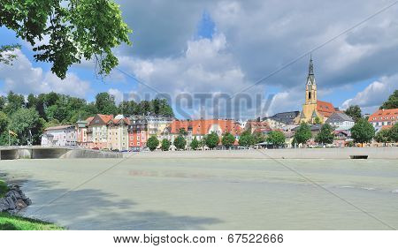 Bad Toelz,Isar River,upper Bavaria,Germany