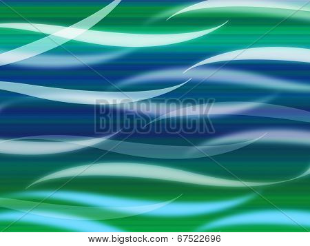 Sea Waves Background Means Curvy Light Ripples.
