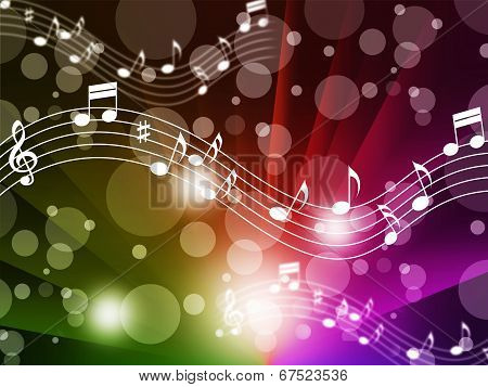 Music Background Meaning Singing Instruments And Notes.