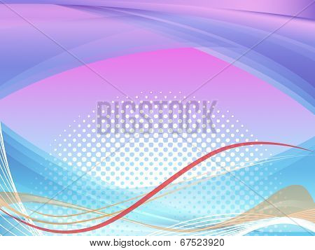 Wavy Background Shows Squiggles And Curves Pattern.