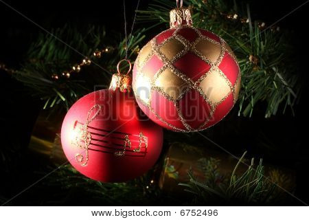 Two Christmas Baubles