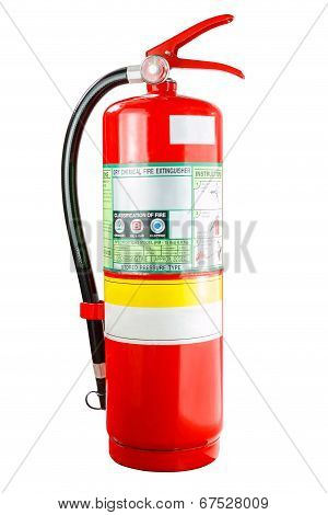 Chemical fire extinguisher isolated, with clipping path