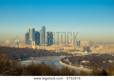 Moscow Business Center. Panorama.