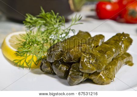 Wrap stuffed with olive oil