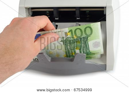 Counting The Euro Bills