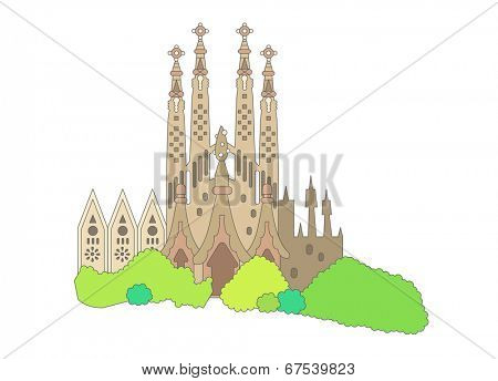 The view of Cathedral of Notre
