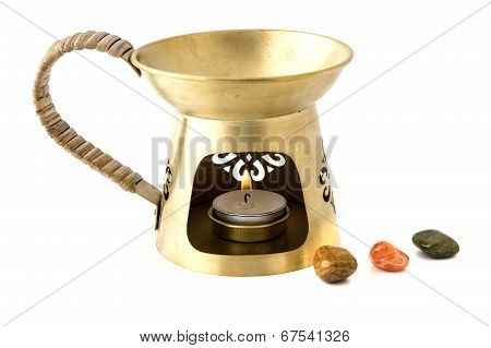 Aromatherapy burner isolated on white background