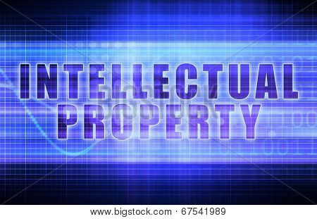 Intellectual Property or IP on a Business Chart