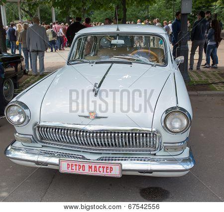 The GAZ-21 Volga car on show of collection Retrofest cars