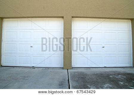 Wide Angle Garage Doors Closed