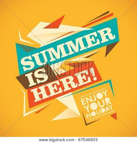 Abstract summer illustration in color. Vector illustration.