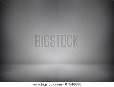Abstract illustration background texture of beauty dark and light gray and black gradient flat wall in empty spacious room interior