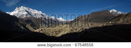Beautiful Panorama In The Himalayas