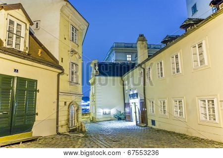 Street By Night In Old Town Of Vienna