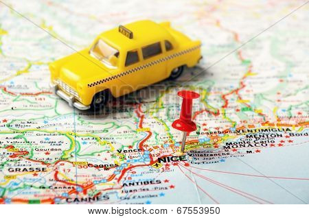 Nice , France  Map Taxi