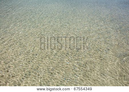 Transparent Clear Soft Rippled Water Surface Background