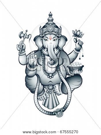 Hindu elephant-head deity Ganesha, the patron of arts and sciences