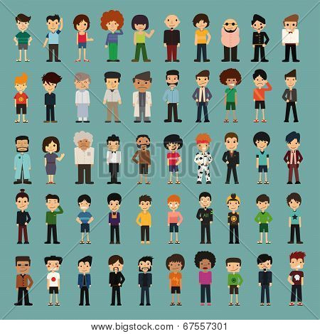 Group Cartoon People poster
