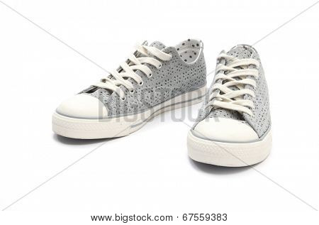 Pair of sneakers isolated on white background